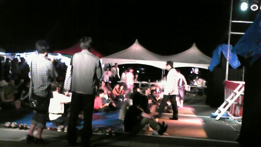 地方ステージ!夜!小雨!