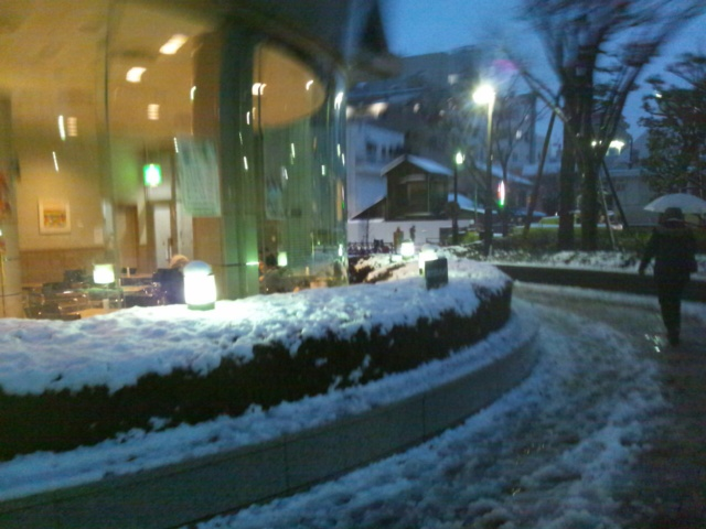 雪が…ホント!